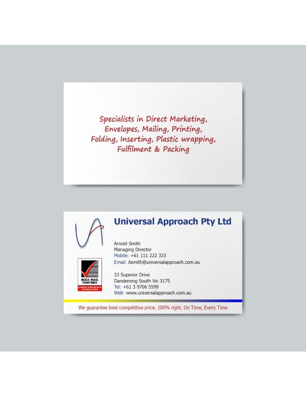 Standard Business Cards - 90 x 55mm