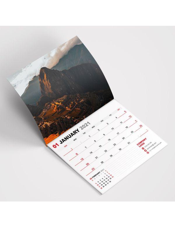 Wall Calendars A4 - Saddle Stitched