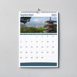 Wall Calendars A4 - Wire Bound