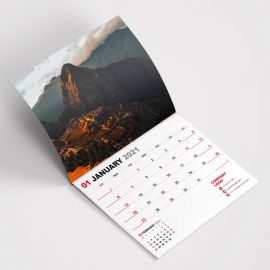 Wall Calendars A4 - Saddle Stitched